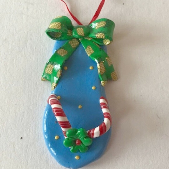 Christmas Pineapple.Flip Flop Ornament Christmas Pineapple Handmade Nwt